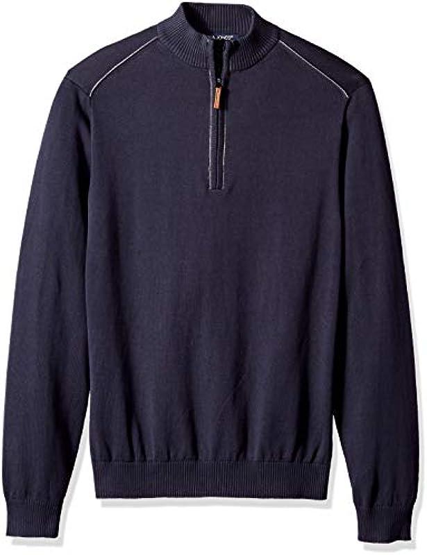 D and Jones Dejn-dg478-manchester męski sweter z zamkiem błyskawicznym: Odzież