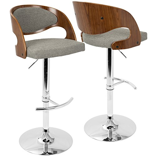 WOYBR BS-JY-PN WL+GY Fabric, Bent Wood Pino Barstool Review