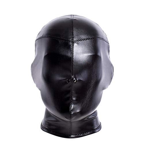 BESTOYARD Mascara con los ojos vendados de la cara completa Mascara de la cubierta de la cara transpirable Adulto Cosplay Hood Hood Men Headgear