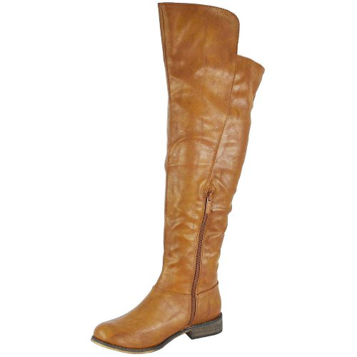 Tenesee Breckelle Tan Over 17 Women's Knee Boots The p5Rq7z