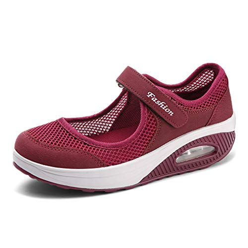 Women's Mesh Walking Shoes Platform Sandals Lightweight Wedges Loafers Fitness Sneakers Mary Jane Shoes (Platform Shoes Nurse)
