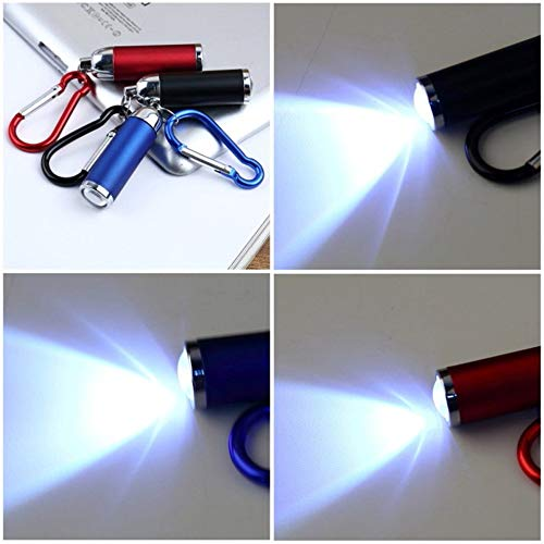 Multicolor Mini Outdoor Flashlight Torch Lamp Keychain Light Telescopic Portable Aluminium Alloy High Power Flashlight