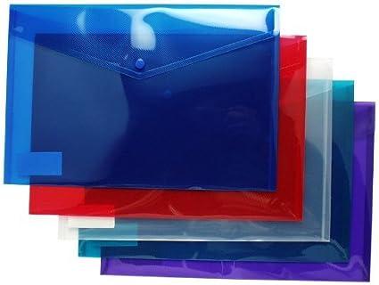 Tiger A4 +/Folios de Color tamaño Folio, Paquete de 5 Carpetas ...