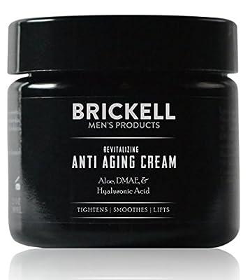 Brickell Men's Revitalizing Anti-Aging Cream For Men, Natural & Organic Anti Wrinkle Night Face Cream