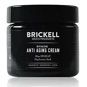 Brickell Men's Revitalizing Anti-Aging Cream For Men, Natural & Organic Anti Wrinkle Night Face Cream - 2 oz