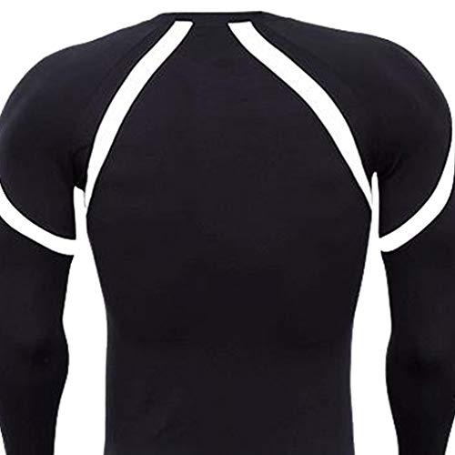Bodybuilding Haut Pull Blanc Sweat Vêtements Tenue Quick Winjin 1 De Blouse shirt Slim Top Sport À Longues Dry Maillot Sportswear shirt T Homme Manches Fitness Vêtement 8nRqwWS7nO