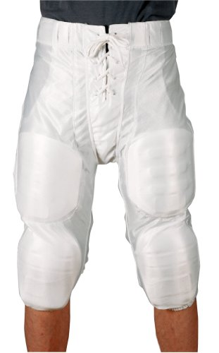 Youth Football Pants Pads - Markwort Youth Football Pants with Fixed Pads (White, Large)