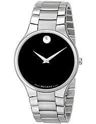 Movado Mens 0606382 Serio Stainless Steel Bracelet Watch