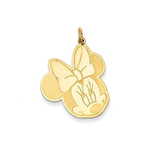 ICE CARATS 14kt Yellow Gold Disney Minnie Pendant Charm Necklace Licensed Fine Jewelry Ideal Gifts For Women Gift Set From Heart 14kt Gold Disney Jewelry