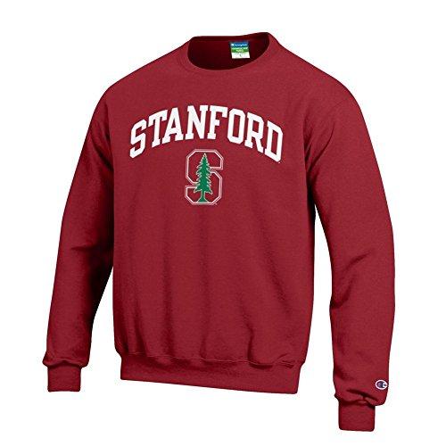 Elite Fan Shop NCAA Stanford Cardinal Men's Team Color Crewneck Sweatshirt, Cardinal, X-Large