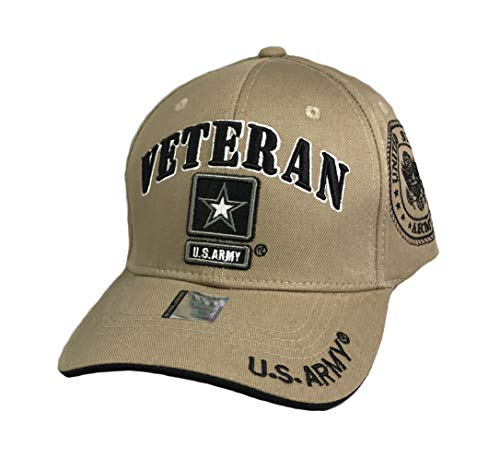 Prfcto Lifestyle US Army Veteran Baseball Hat - Licensed Military Baseball Cap for Veterans, Retired, and Active Duty - Army Veteran Cap