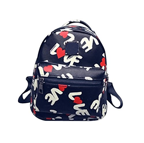 TELLM Womens Girls lady's bag Leisure Travel Shopping Backpack Love (Flower Backpack Purse)
