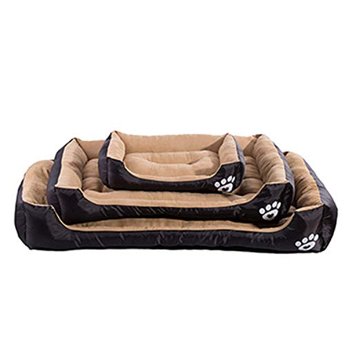 sevenTimes Warming Dog Bed Pet House Soft Suede Pet Nest Dog Fall and Winter Warm Nest Kennel for Cat Puppy Plus Size,Black,XL