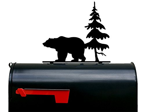 Bear and Tree Mailbox Topper / Plaque / Sign