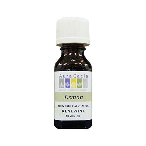 Aura Perfume Natural Cacia Fruit - Aura Cacia Essential Oil Lemon, 0.5 oz.