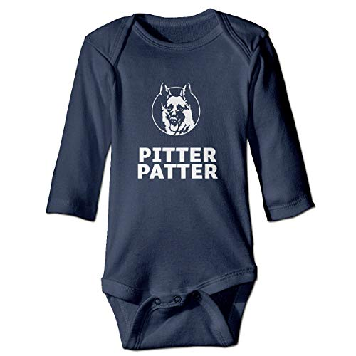 BABYQIN Pitter Patter LetterKenny Child Fashion Jumpsuit Bodysuit Jumpsuit Outfits Jumpsuit Casual Clothing Navy ()