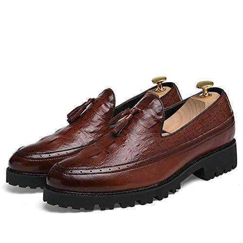 classiche classico Scarpe shoes Pelle oxford stile scarpe 2018 e Nero Jiuyue uomo Uomo end moda Scarpe da Color alta high 41 casual di EU Marrone Dimensione aAvwqxT