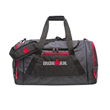 IRONMAN 24 Inch Large Sports Duffle Gym Bag Red