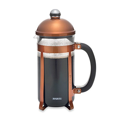 BonJour Coffee and Tea Maximus 8-Cup French Press in Copper by BonJour