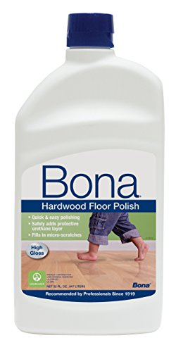 Bona® WP510051002 Hi-gloss Hardwood Floor Polish 32 Oz. (Pack of 6) - Bona Kemi Hardwood Floor Mop