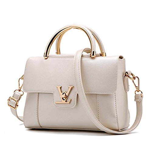 Flap V Women's Luxury Leather Clutch Bag Ladies Messenger Bags Famous Tote Bag Pearl Beige