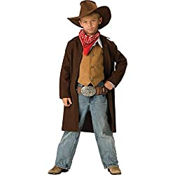 InCharacter Costumes, LLC Boys 8-20 Rawhide Renegade Duster Jacket Set, Brown, 10