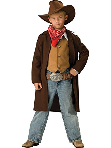 Halloween Costumes Smores (InCharacter Costumes, LLC Boys 2-7 Rawhide Renegade Duster Jacket Set, Brown,)