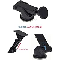 Magnetic Cell Phone Holder by Hantengri - Gel Suction Cup for Windshield or Dashboard Car Mount, Adjustable Long Arm Holder, Universally Compatible with iPhone 8 / 10 /7 Plus, Samsung s8 /s7 & etc