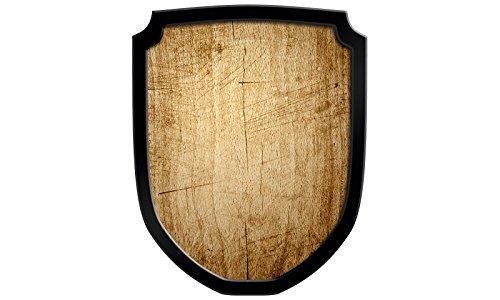 Madera spielerei 33548de N–Escudo Cartel Blanco, natural Holzspielerei 33548-N