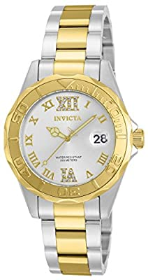Invicta Women's 'Pro Diver' Quartz Stainless Steel Casual Watch, Color:Silver-Toned (Model: 12852)