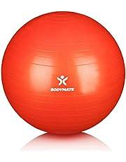 BODYMATE Swiss Ball - Gymnastiekbal met gratis e-book incl. Pomp - Fitness Yoga Core
