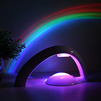 Mercu Arch Shape Romantic LED Rainbow Lamp Wall Ceiling Project Night Light,  Children Magic Toys