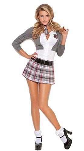 Elegant Moments Women's Detention School Girl Costume with Socks (Medium)