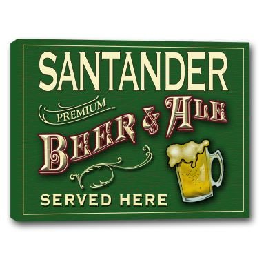 santander-beer-ale-stretched-canvas-sign-16-x-20