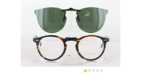 c124938fd6 Amazon.com  OLIVER PEOPLES OV5186-45X23 POLARIZED CLIP-ON SUNGLASSES (Frame  NOT Included)  Health   Personal Care