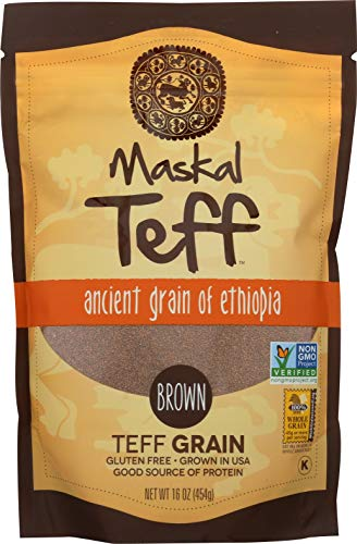 Maskal Teff, Brown Grain, 16 Ounce ()