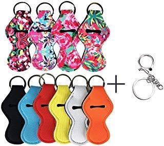 - Thinvik 10 Pieces Chapstick Holder Keychain Neoprene Lip Balm Keychain Holder Travel Accessories(Multicolor 10 Pack)
