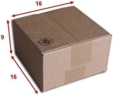 Cajas cartón (N ° 3) formato 160 x 160 x 90 mm: Amazon.es: Oficina y papelería