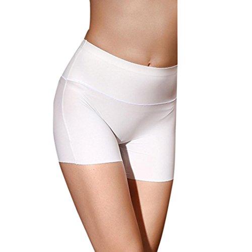 Longra ♥Mujeres Cintura Alta Body Underwear Control Boyshort Shapewear Blanco