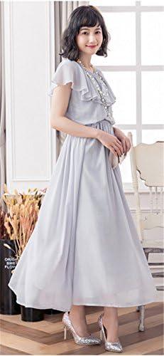 ロングドレス シフォン フォーマル パーティードレス 結婚式 ワンピース 大きいサイズ 袖あり 二次会 お呼ばれ 同窓会 20代 30代 40代