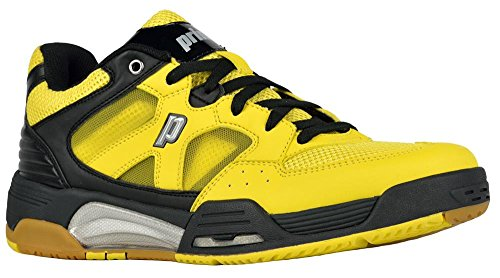 Prince NFS Attack Men's Squash Shoe-Yellow/Black/White-13