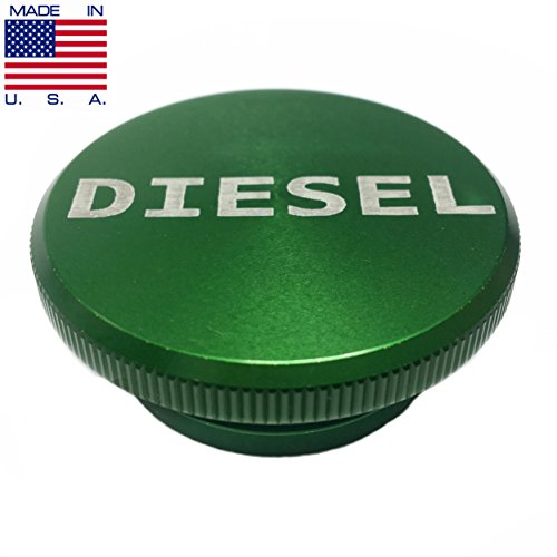 Cap Gas Lid (2013-2017 Dodge Ram Aluminum Green Diesel Fuel Cap Lid Magnetic MADE IN USA)