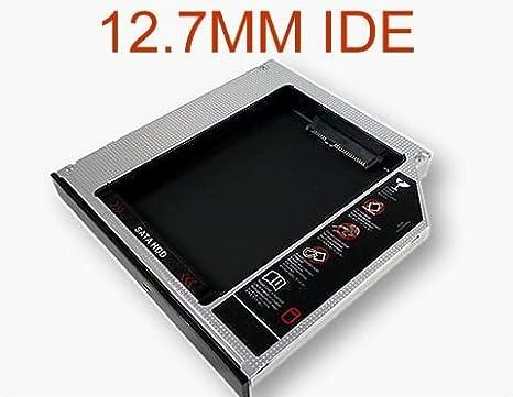 6,3 cm//9.5 mm Bay ottico 2 nd SATA HDD hard drive Caddy modulo vassoio connettore PATA aluminum SATA a IDE 2 nd HDD case Bay ottico