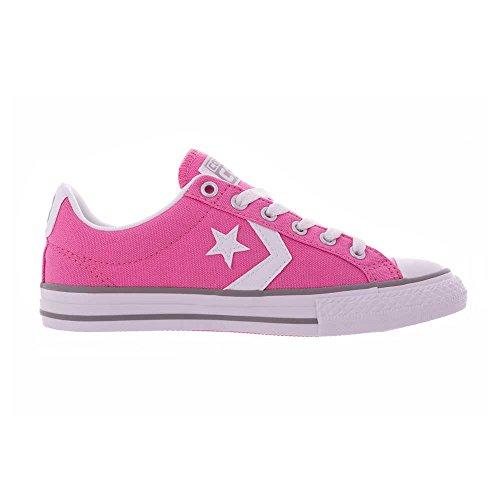 Converse Zapatilla Jr Star Player Ox Chuck pink-White Rosa