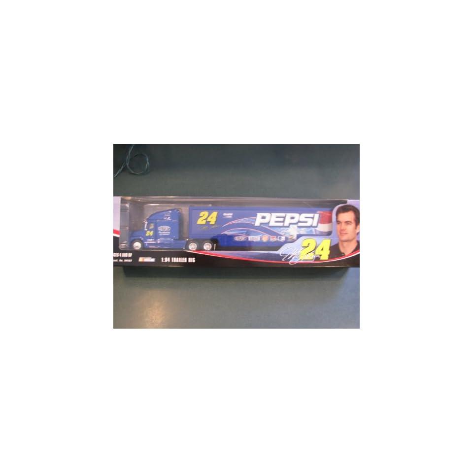 Jeff Gordon #24 Pepsi GMAC Dupont Lays Hauler Tractor Trailer Transporter Semi Rig Truck 1/64 Scale Winners Circle 2004 Edition