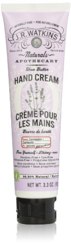 J.R. Watkins Natural Hand Cream, Lavender, 3.3 Ounce