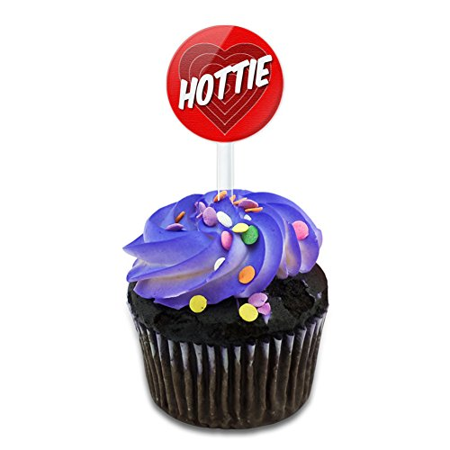 Hottie and You Know It Cake Cupcake Toppers Picks Set ()