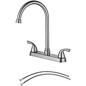 Parlos 8 Inch Kitchen Faucet Single Handle High Arch Pull