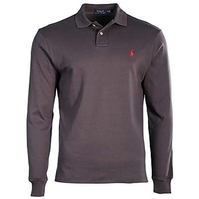 Polo Ralph Lauren Mens Long Sleeve Interlock Custom Fit Polo Shirt free shipping