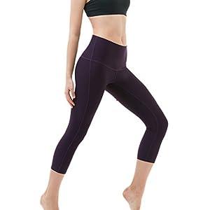 """TM-FYP32-DVT_Medium Tesla Women's Yoga 21""""Capri High-Waist Tummy Control Pants w Pocket FYP32 …"""